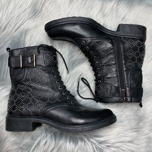 Vince Camuto | NEW Tanowie Lace Up Black Boots 7.5
